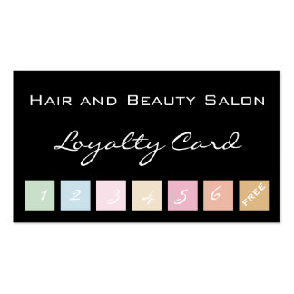 Hair and Beauty Salon Loyalty Card Pack Of Standard Business Cards