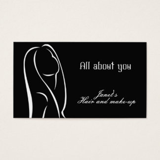 Hair and make up business card