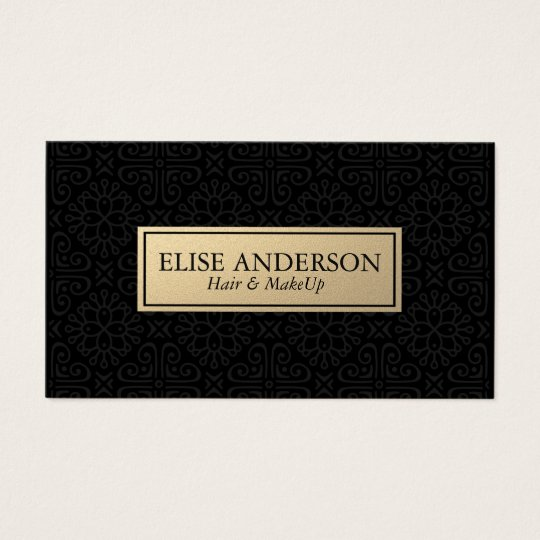 hair and make up stylist | elegant black business card