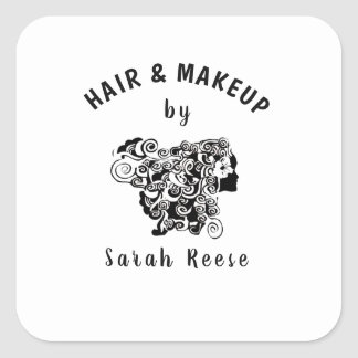 Hair and Makeup by Beauty Fashion Professional Square Sticker