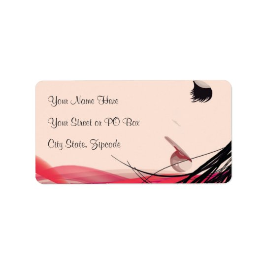 Hair and Makeup Lady Address Label