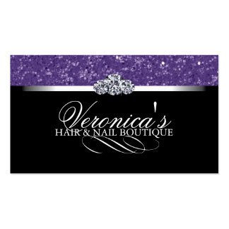 Hair and Nail Salon Glitter Business Cards