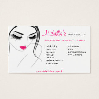 Hair & Beauty salon, business card design