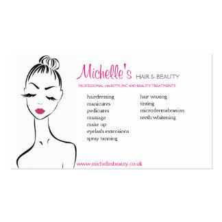 Hair & Beauty salon, business card design