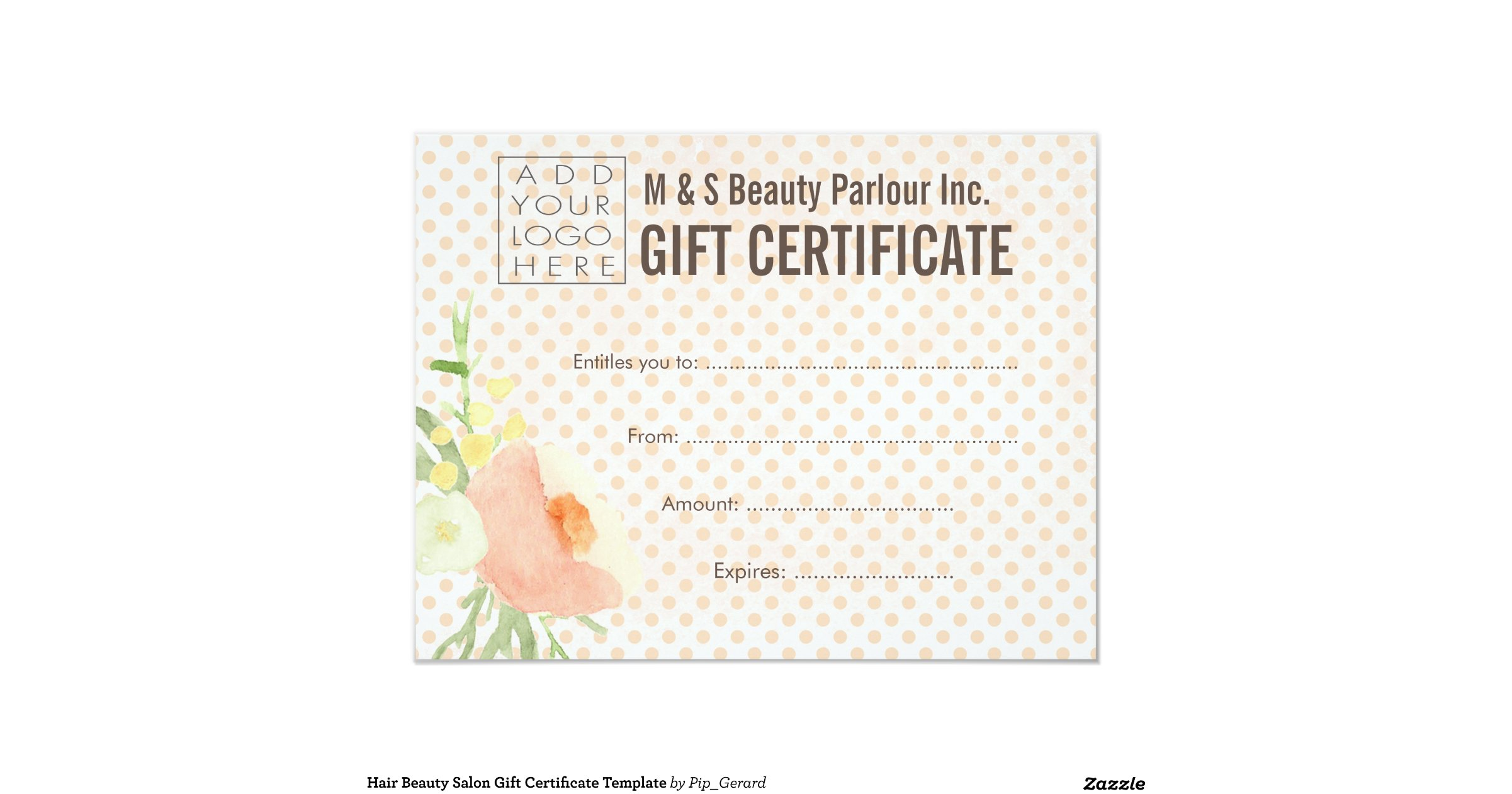 It is a graphic of Striking Printable Hair Salon Gift Certificate Template