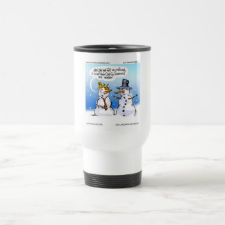 Hair Club For Snowmen Funny Christmas Travel Mug