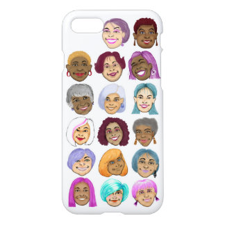 Hair Color Change graphic on Apple iPhone 7 case