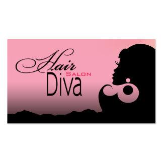 Hair Diva - Beauty Salon Beautician Hair Stylist Business Cards