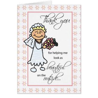 Hair Dresser and Makeup Artist Wedding Thank You Greeting Card