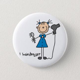 Hair Dresser Stick Figure Button
