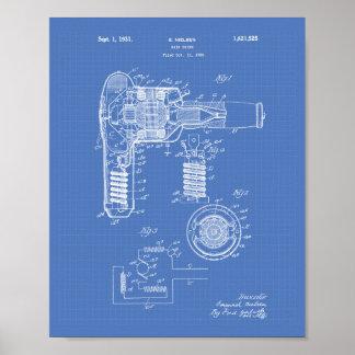 Hair Drier 1929 Patent Art Blueprint Poster