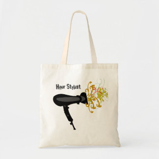 Hair Dryer Blowing Flowers Budget Tote Bag