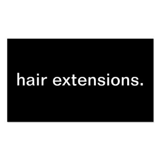 Hair Extensions Pack Of Standard Business Cards
