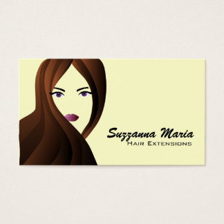 Hair Extensions Business Cards- color changeable