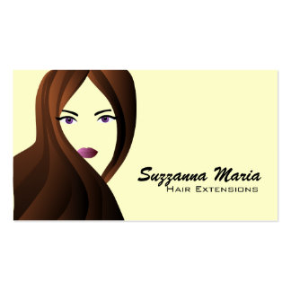 Hair Extensions Business Cards- color changeable Pack Of Standard Business Cards
