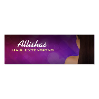 Hair Extensions Skinny Business Cards