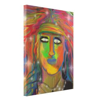 """Hair God"" Digital Painting Canvas Prints"