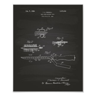Hair Iron 1926 Patent Art Chalkboard Poster