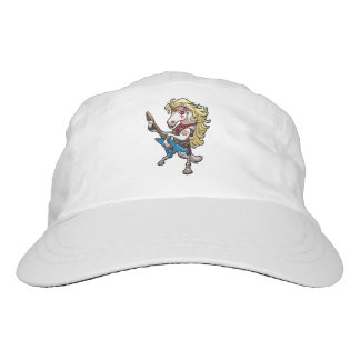 Hair Metal Glam Unicorn With Star Guitar Cartoon Hat
