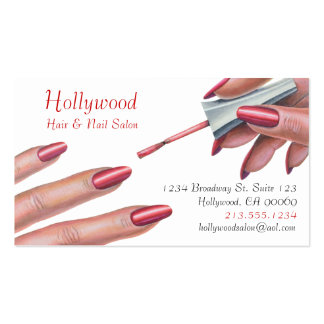 Hair & Nail Salon_Beauty Stylist Business Card Template