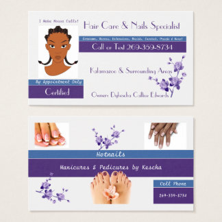 Hair & Nail Specialist Business Card