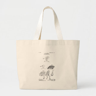 Hair retaining comb - Mary Carpenter, Inventor Large Tote Bag