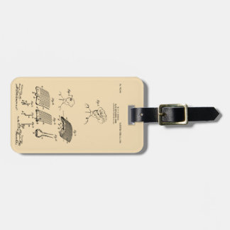 Hair retaining comb - Mary Carpenter, Inventor Luggage Tag