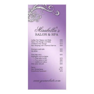 Hair Salon Beauty Rack Card Jewelry Swirl Purple