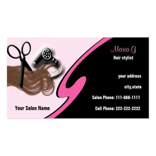 Hair salon buisness cards militaryalicious hair salon buisness cards colourmoves