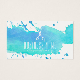 Hair Salon Elegant Watercolor Appointment Business Card