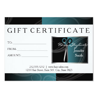 Hair Salon gift cards 11 Cm X 16 Cm Invitation Card