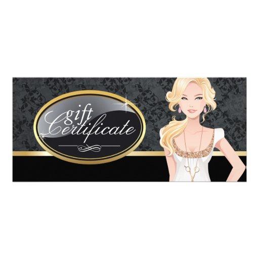 HAIR SALON GIFT CERTIFICATE RACK CARD TEMPLATE