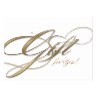 Hair Salon Gift Certificate White Gold Pack Of Chubby Business Cards