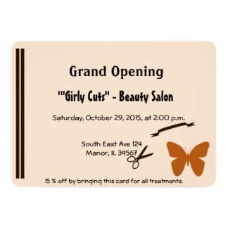 Hair Salon Opening Invitation