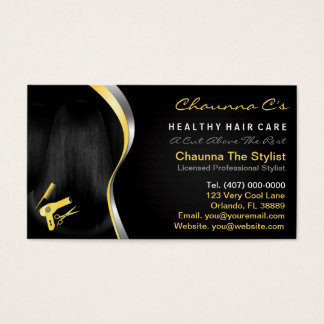 Hair Salon Stylist Beautician Appointment Business Card