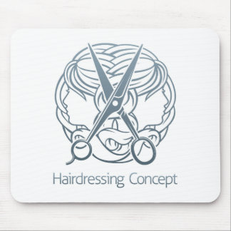 Hair Salon Stylist Hairdresser Concept Mouse Pad