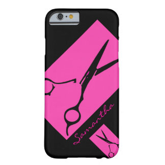 Hair salon stylist pink black iPhone 6 case Barely There iPhone 6 Case