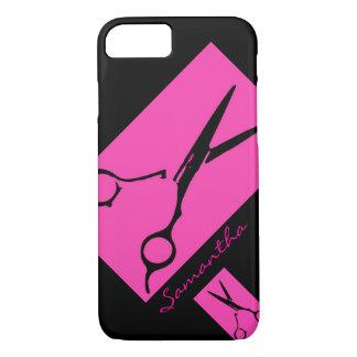 Hair salon stylist pink black iPhone 7 case