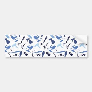 Hair salon tools pattern bumper sticker