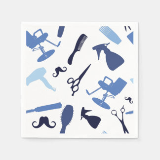 Hair salon tools pattern paper napkins