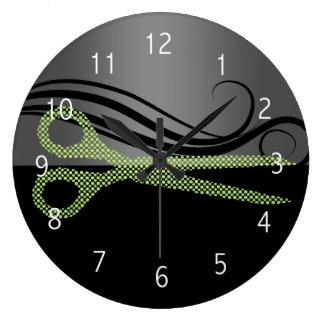 hair salon wall clock