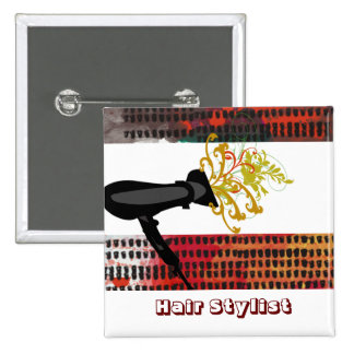Hair Salons Hair Stylist 15 Cm Square Badge