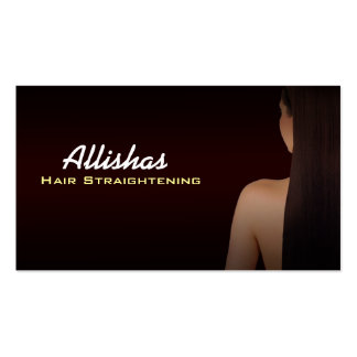 Hair Straightening Business Cards