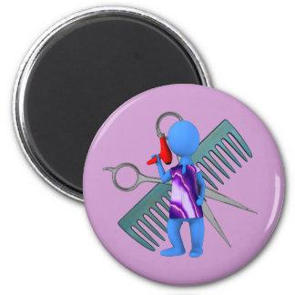 Hair Stylist 6 Cm Round Magnet