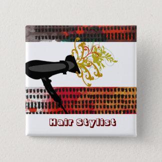 Hair Stylist  Appointment Salon  Fashion Floral 15 Cm Square Badge