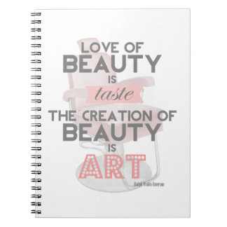 Hair Stylist Beauty is Art Quote Retro Notebook