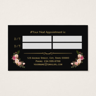 Hair Stylist Beauty Salon Gold Floral Appointment