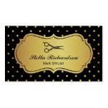 Hair Stylist - Black and Gold Glitter Polka Dots