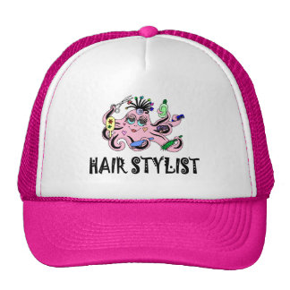 Hair Stylist Black and Pink Octopus Cap