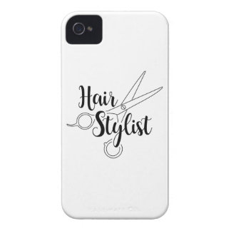 Hair Stylist Black iPhone 4 Case-Mate Cases